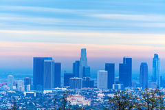 Orange dawn in Los Angeles Royalty Free Stock Image