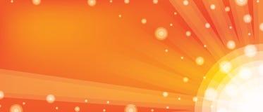 Orange de boule de bannière Images libres de droits