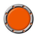Orange de bouton Photographie stock