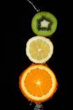 Orange de citron de kiwi Photo stock