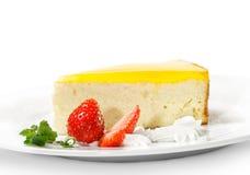 orange de dessert de gâteau au fromage photo libre de droits