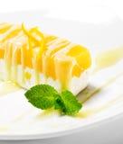 orange de dessert de gâteau au fromage images libres de droits