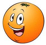 Orange de dessin animé Photo libre de droits