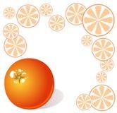 orange de fond Image libre de droits
