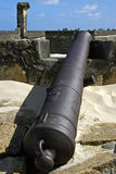 Orange de fort, canon et murs de la défense, Brésil Photographie stock