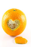 Orange de Hart Peel Photo stock