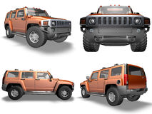 orange de Hummer illustration stock
