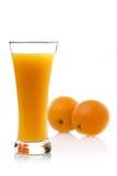 orange de jus Photographie stock libre de droits
