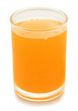 orange de jus d'isolement par glace Image stock