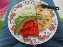 Orange de jus de santé de petit déjeuner de vitalité de nourriture Photos libres de droits