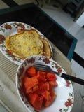 Orange de jus de santé de petit déjeuner de vitalité de nourriture Image stock
