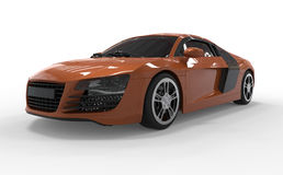 Orange de l'audi r8 de voiture Images libres de droits