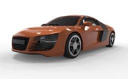 Orange de l'audi r8 de voiture images libres de droits