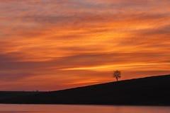 Orange de l'eau de lever de soleil Photo stock