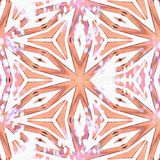 Orange de l'Indonésie de kaléidoscope de batik illustration stock