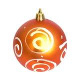 orange de Noël de babiole Photos libres de droits
