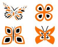 Orange de papillon Photos stock