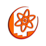Orange de symbole de la Science Photos stock
