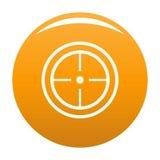 Orange de vecteur d'icône de but de sport illustration de vecteur