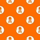 Orange de vecteur de modèle de danger illustration de vecteur