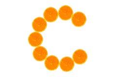Orange de vitamine C images libres de droits