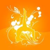 Orange de yoga [01] Photos stock