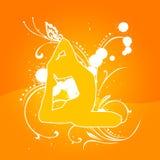 Orange de yoga [03] Images stock