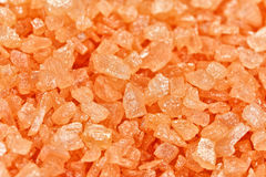 Orange dead sea salt background Stock Photo