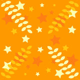 Orange decoration:stars,leaves Stock Photography