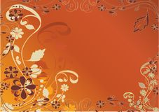 Orange,decorative flowers design Royalty Free Stock Images