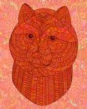 Orange decorative head of a dog. Stock Image