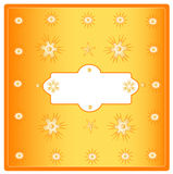 Orange decorative postcard Royalty Free Stock Images