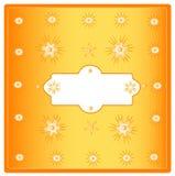Orange decorative postcard Royalty Free Stock Images