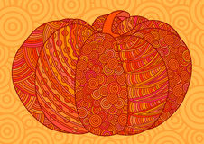 Orange decorative pumpkin for Halloween and thanksgiving. stock image