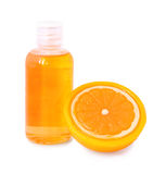 Orange decorative soap and shower gel Royalty Free Stock Images