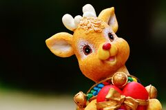 Orange Deer Figurine Royalty Free Stock Photos