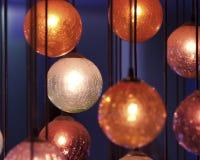 Orange Dekorationen Stockbild