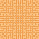 Orange dekorativ sömlös linje modell Royaltyfri Bild