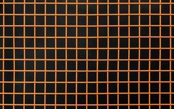 Orange dekorative Gitterbank lizenzfreie stockfotos