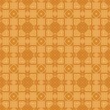 Orange dekorative nahtlose Linie Muster Lizenzfreies Stockbild