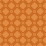 Orange dekorative nahtlose Linie Muster Lizenzfreie Stockfotografie