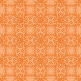 Orange dekorative nahtlose Linie Muster Stockbild