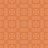 Orange dekorative nahtlose Linie Muster Lizenzfreies Stockfoto