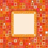 Orange dekorative Seite Lizenzfreie Stockfotos