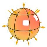 Orange des globalen Netzwerks Stockfoto