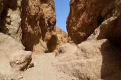 Orange desert canyon. In Negev desert, Israel Stock Images