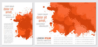 Orange design background. Abstract multicolor element Royalty Free Stock Photography