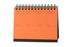 Orange Desk Calendar Note Stock Photo