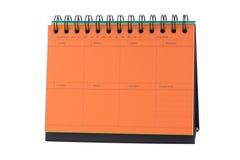 Orange Desk Calendar Note Stock Photo