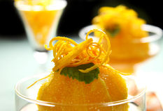 Orange Dessert Stock Image